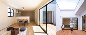 カーテンのいらない家。be-plus。ヤスナグデザインホーム株式会社の家。